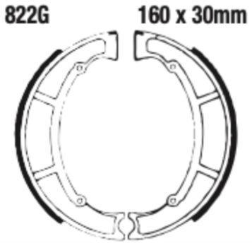 EBC 822G Grooved Brake Shoe Set (8600726) for Maico AMX - Image 2
