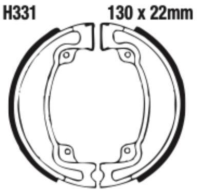 EBC H331 Brake Shoe Set (8600859) for Honda CR/XR AMX - Image 2
