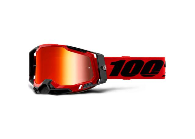 100% Racecraft2 Goggle Red Mirror Red Lens AMX - Image 1