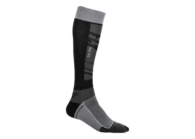 Fly Socks Mx Thin Dark Grey / Black AMX - Image 1