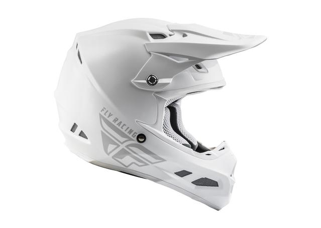Fly F-2 Helmet 2019 Solid White AMX - Image 1