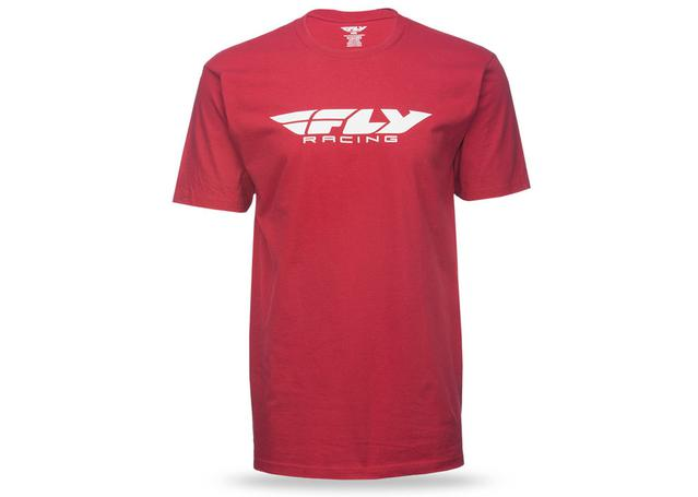 Fly Casual Corp Logo Tee Red AMX - Image 1