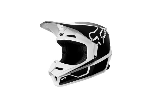 FOX Youth V1 Przm Helmet Black White 2019 AMX - Image 2