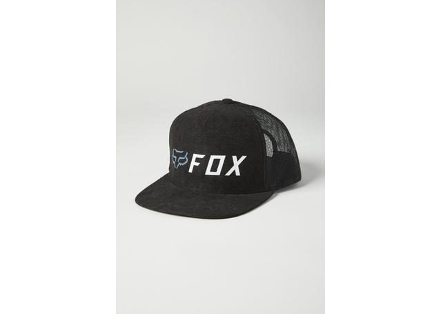 FOX YTH APEX SNAPBACK HAT BLACK WHITE AMX - Image 1