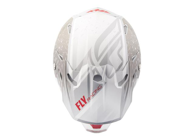 Fly Toxin Helmet Resin Matt White / Grey AMX - Image 3