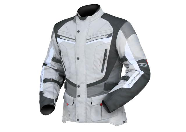 DRIRIDER APEX 4 MENS JACKET GREY/WHITE/BLACK AMX - Image 1