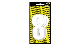 BLACKBIRD RACE NUMBERS '8' - 3 PACK WHITE LARGE