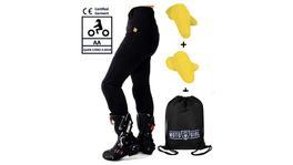 Motogirl Kevlar Leggings Ribbed Knee Regular Size