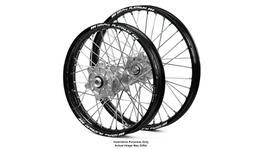 Honda Africa Twin CRF1000L Adventure Black Platinum Rims / Silver Haan Hubs Wheel Set