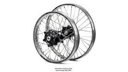 Honda Africa Twin CRF1000L Adventure Silver Platinum Rims / Black Haan Hubs Wheel Set