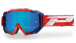 Progrip Venom 3200 Red / Blue Goggles with Blue Multilayered Lens
