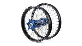Husqvarna Talon Carbon Fibre / Excel A60 SNR MX Black Rims / Blue Hubs / Blue Nipples Wheel Set